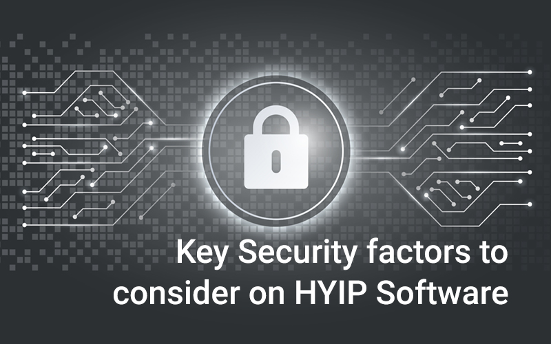 Key Security factors to consider on  HYIP Software